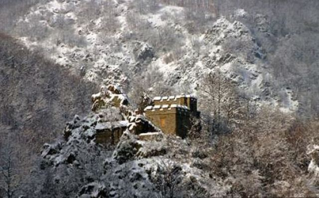 The Urvich fortress (pictured in the winter) is located amidst impregnable natural defenses such as steep mountain slopes and the Iskar river. Photo from urvich.com