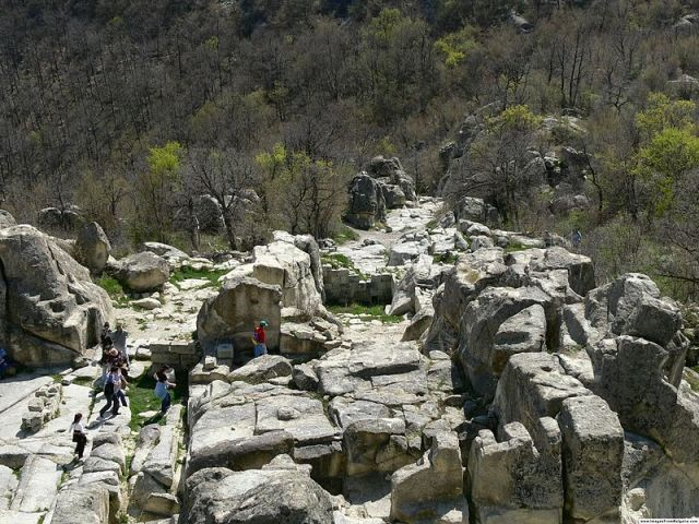 The ancient and medieval rock city of Perperikon features remains from all time periods since the Neolithic Era. Photo by Nenko Lazarov from Wikipedia licensed under CC BY 2.5 via Wikimedia Commons.