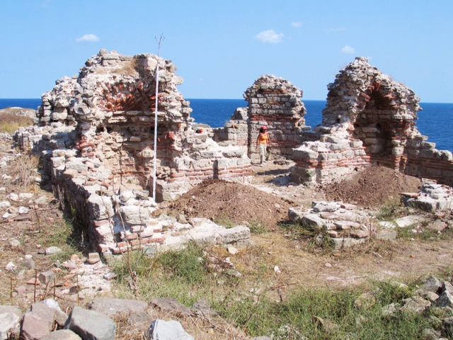 Ruins of the St. John the Baptist Monastery on St. Ivan Island off the coast of Sozopol. Photo: Prof. Kazimir Popkonstantinov,