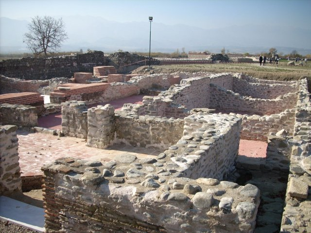 This 2013 photo shows  the remains of the Ancient Roman Thermae (public baths) in Nicopolis Ad Nestum after their restoration. Photo by Garmen Municipality