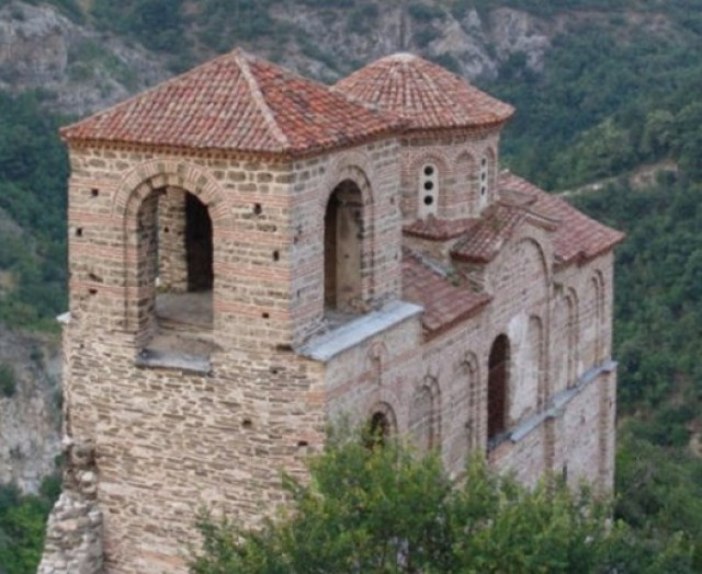 A closer view of the Church of the Holy Mother of God at Asen's Fortress near Asenovgrad. Photo by Asenovgrad Municipality