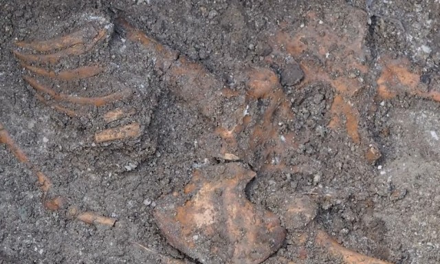 'Giant' Skeleton Found under Odessos Fortress Wall in Bulgaria's Varna Not Fully Dug Up, Measured Yet, Archaeologists Inform