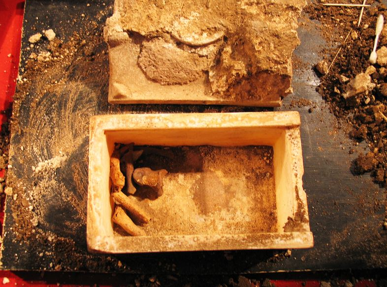 define dating in archeology A form of radiometric dating used to determine the age of organic remains in ancient objects, such as archaeological specimens, on the basis of the half-life of carbon-14 and a comparison between the ratio of carbon-12 to carbon-14 in a sample of the remains to the known ratio in living organisms.