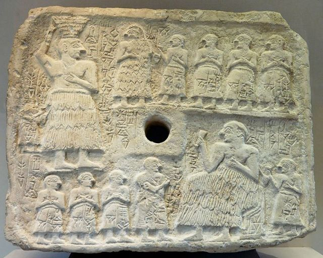 The Sumerian relief of the king of the Sumerian city of Lagash Ur-Nanshe (also known as Ur-Nina), the first king of the First Dynasty of Lagash (around 2500 BC), is kept in the Louvre Museum in Paris. Archaeologist Nikolay Ovcharov thinks the Sumerian relief seized by the Bulgarian police bears close resemblance to it. Photo by Marie-Lan Nguyen, Wikipedia