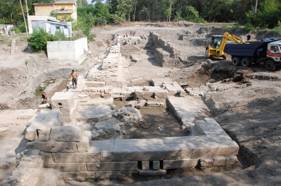 This 2012 archive photo shows excavations of the ancient and medieval spa resort of Aquae Calidae - Thermopolis. Photo: Burgas Municipality