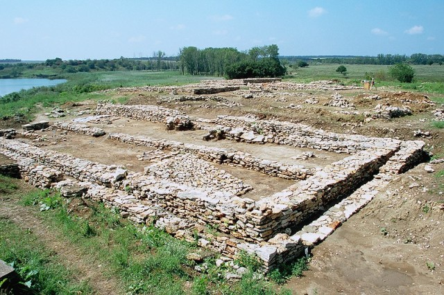 The earliest stone architecture in continental Europe - the stone city located on the Big Island (today a peninsula) in the Durankulak Lake, a Black Sea lagoon in Northeast Bulgaria. Photo: Dobrich Regional Museum of History