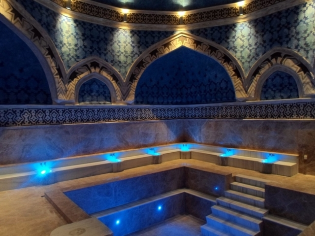 A preview of the museum inside the restored bath of Ottoman Turkish Sultan Suleiman I the Magnificent as part of the ancient and medieval Aquae Calidae - Thermopolis Archaeological Preserve in Bulgaria's Burgas. Photo: Burgas Municipality