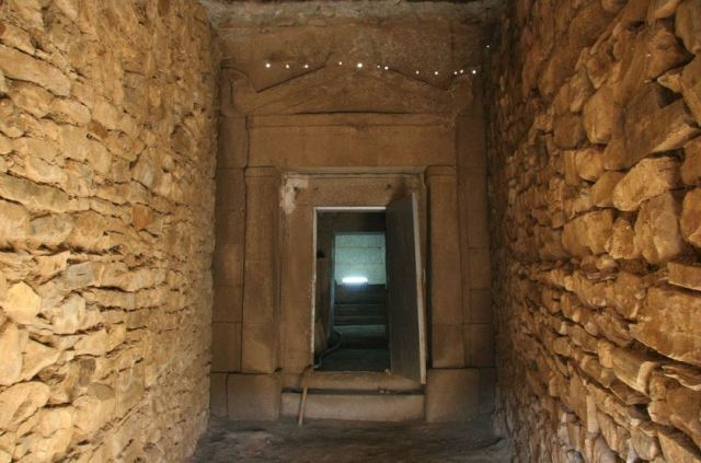 The entrance of the Griffins' Tomb, a 5th century AD Ancient Thracian burial mound (tumulus) near Bulgaria's Shipka, Kazanlak Municipality. Photo: Kazanlak Municipality
