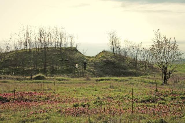 The Ancient Thracian mound known as Cholakova Mogila created by the Thracians when they buried their stone circle observatory at Staro Zhelezare. Photo: Staro Zhelezare Facebook Page