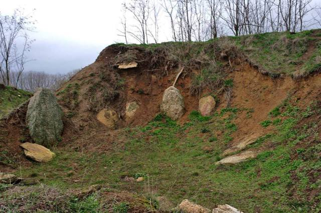 The Ancient Thracian Stone Circle (Cromlech) in Bulgaria's Star Zhelezare in March 2014. It has been largely abandoned to the mercy of looting treasure hunters and the weather since its discovery in 2001. Photo: Staro Zhelezare Facebook Page